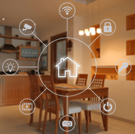 smart home touch screen graphic